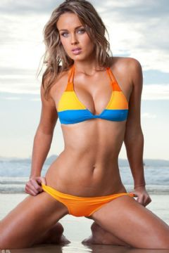 Bikini brasiliano arancione