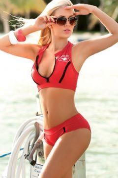 bikini sportivo rosso