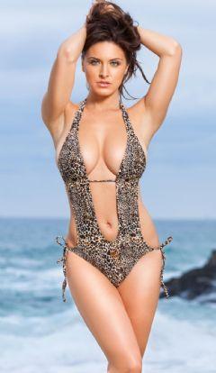 Sexi Monokini leopardato