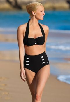 Bikini a culotte nero